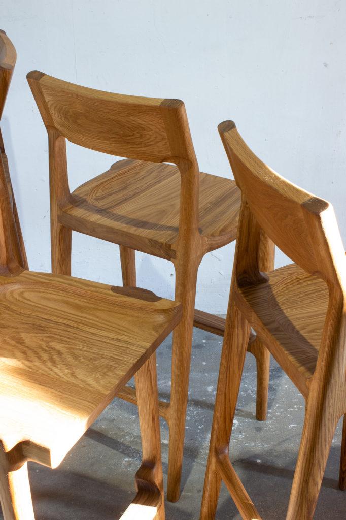 Oak low stool