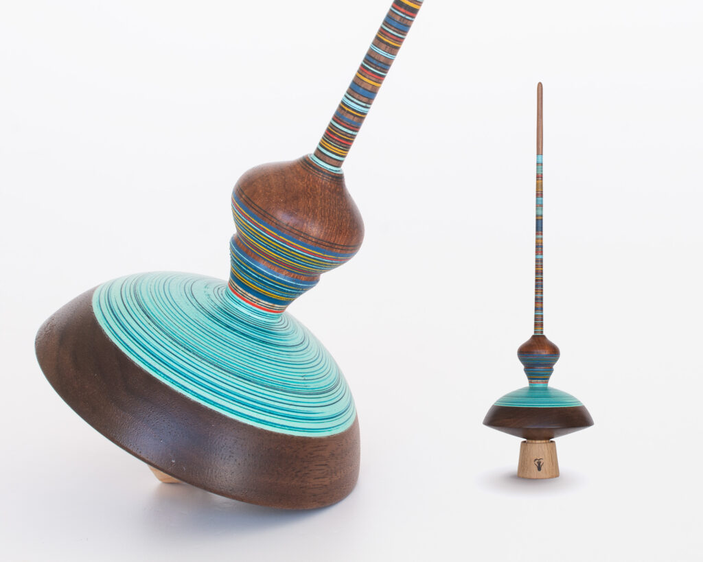 Turquoise Collector's spinning top